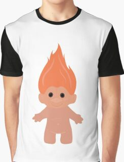 Orange Troll Graphic T-Shirt