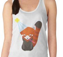 Party Hat Red Panda Vector Women's Tank Top