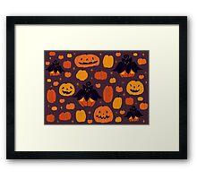 Fall Pumpkaboo Pumpkin Patch Framed Print