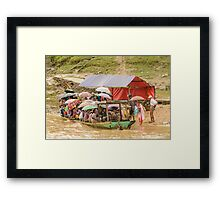 Ferry on the Chindwin 4 Framed Print