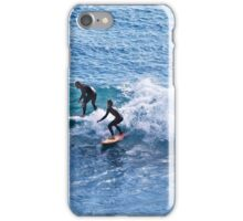Surfing at Flat Rock iPhone Case/Skin