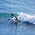 Surfing at Flat Rock by Ian Berry