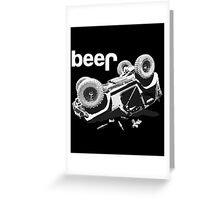 Funny Beer 4x4 Greeting Card