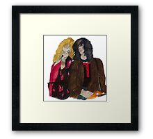 Robert Plant and Jimmy Page Framed Print