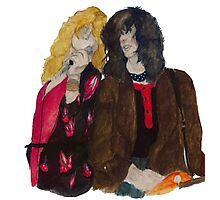 Robert Plant and Jimmy Page Photographic Print