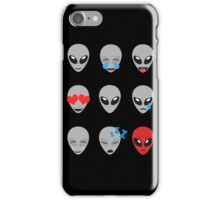 Space Alien Emoticons  iPhone Case/Skin