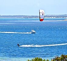 Kite surfing in Coffin Bay by Ian Berry