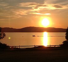Sunset on Lake Champlain by rachelstone