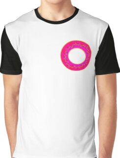 Pink donut with sprinkles  Graphic T-Shirt