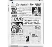 Historic Moon Landing Newspaper Headlines iPad Case/Skin