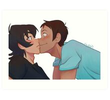Klance squish kiss Art Print