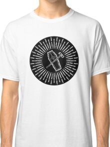 SQUARE HAMMER COFFIN - super sloppy white/black background Classic T-Shirt