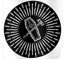 SQUARE HAMMER COFFIN - super sloppy white/black background Poster