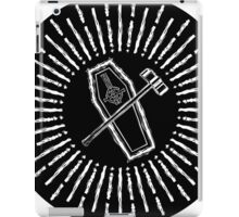 SQUARE HAMMER COFFIN - super sloppy white/black background iPad Case/Skin