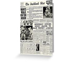 Historic Moon Landing Newspaper Headlines Greeting Card