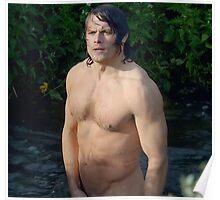 Jamie Fraser Shirtless Poster