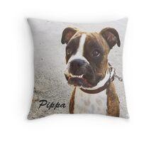 Silly Boxer Dog - Pippa Throw Pillow