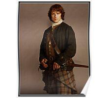 Jamie Fraser Outlander warriors Poster