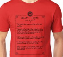 Death Note Rules Page 1 (Inverted) Unisex T-Shirt
