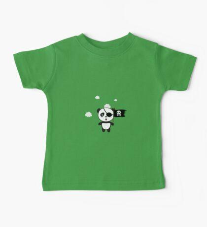 Pirate Panda with Flag Baby Tee