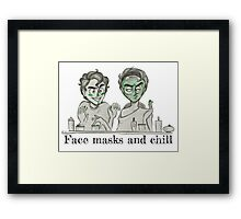 Face Masks and Chill Framed Print