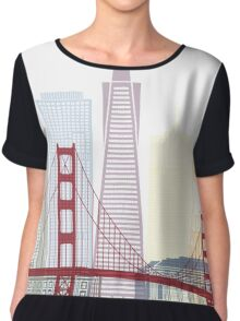 San Francisco skyline poster Chiffon Top
