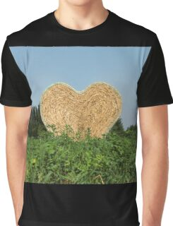 heart hay in the countryside Graphic T-Shirt