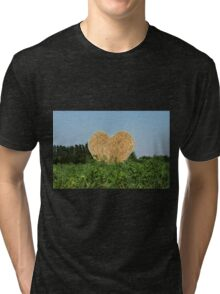heart hay in the countryside Tri-blend T-Shirt