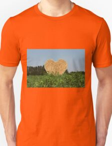 heart hay in the countryside Unisex T-Shirt