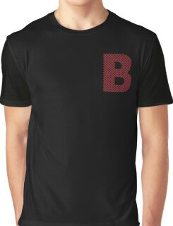 B Red Lines Graphic T-Shirt