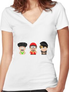 South of Sacha Women's Fitted V-Neck T-Shirt
