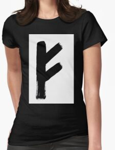 Anglo-Saxon Futhorc Feoh Wealth f Womens Fitted T-Shirt