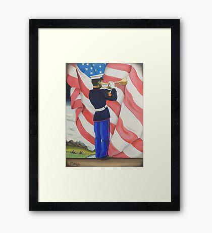 Taps U.S. Marine Framed Print