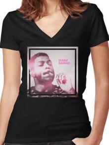 ISAIAH RASHAD Women's Fitted V-Neck T-Shirt