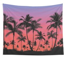 Tropical Palm Tree Sunset Wall Tapestry