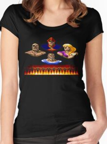 Street Fighter 2 End Scene Women's Fitted Scoop T-Shirt