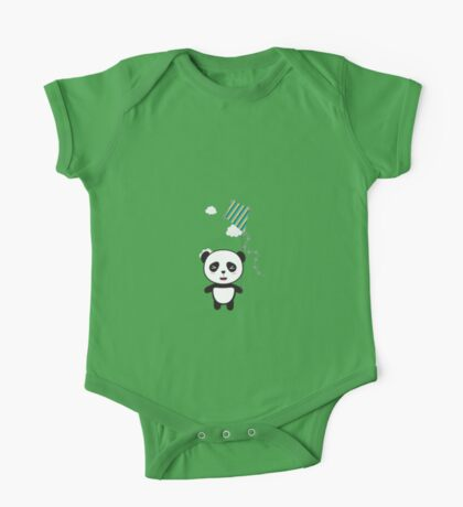 Panda with colorful kite One Piece - Short Sleeve