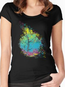 pixels blooming Women's Fitted Scoop T-Shirt