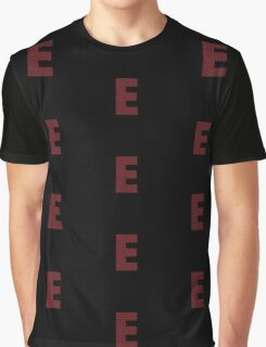 E Red lines Graphic T-Shirt