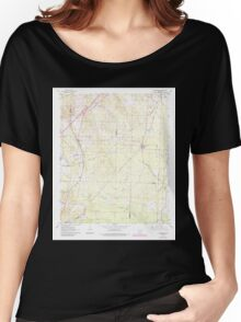 USGS TOPO Map Arkansas AR Traskwood 259750 1963 24000 Women's Relaxed Fit T-Shirt