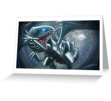 Emerging Blue-eyes White Dragon Greeting Card