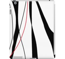 Red, white and black decor iPad Case/Skin