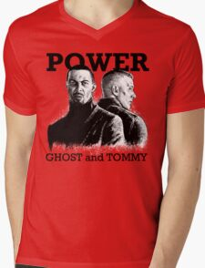 Ghost and Tommy Power TV Mens V-Neck T-Shirt