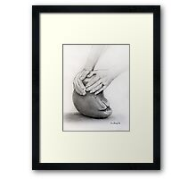 Sculptor's Hands Framed Print