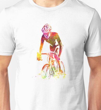 Woman triathlon cycling 04 Unisex T-Shirt