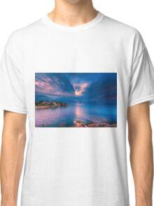 The sun breaks through at Cala d'Enmig Classic T-Shirt