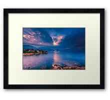 The sun breaks through at Cala d'Enmig Framed Print