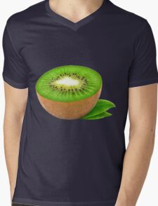 Half of kiwi fruit Mens V-Neck T-Shirt