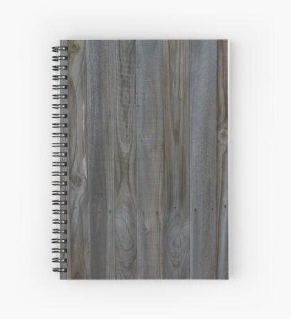 Simple Wooden Fence Spiral Notebook