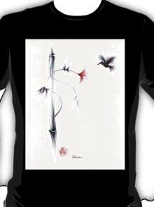 Sweetness - Hummingbird & Flower Painting T-Shirt